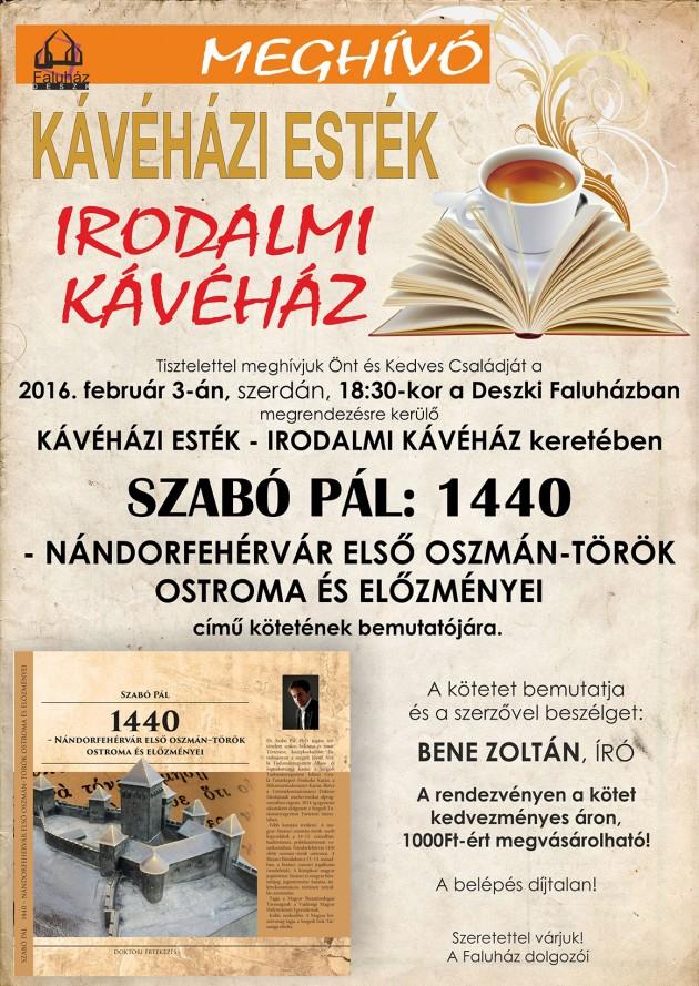 kávéházi esték irodalmi kávéház_Szabó Pál 1440_plakát